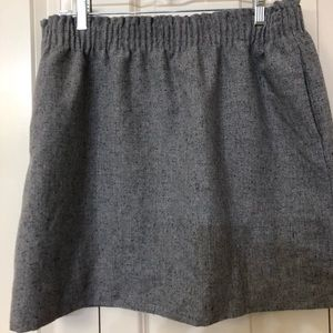 Heathered Grey JCrew Wool Sidewalk Skirt